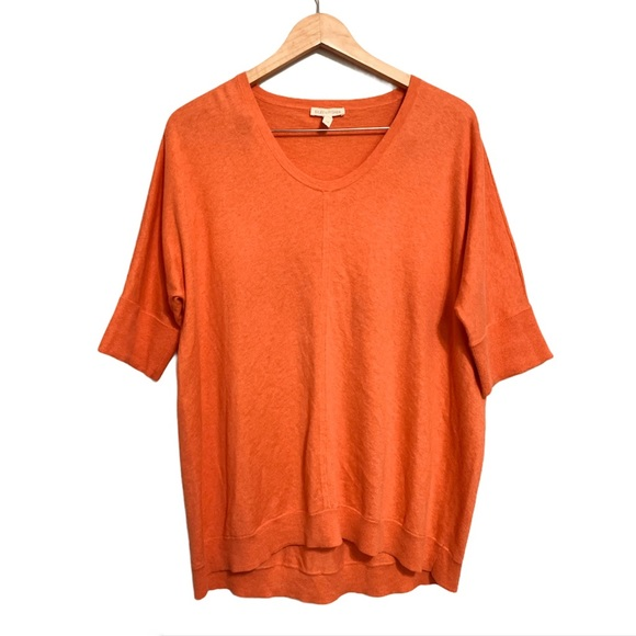 EILEEN FISHER cotton/cashmere oversize knit top S